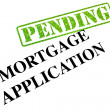 Mortgage Application PENDING — Stock Photo