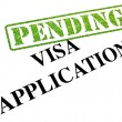 Visa Application PENDING — Stock Photo
