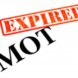 MOT EXPIRED — Stock Photo