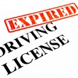 Driving License EXPIRED — Stock Photo