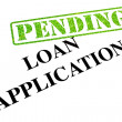 Loan Application PENDING — Stock Photo