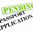 Stock Photo: Passport Application PENDING