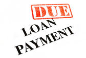 Loan Payment DUE. — Stock Photo