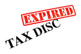 Tax Disc EXPIRED — Stock Photo