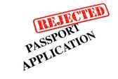 护照申请被驳回 — 图库照片