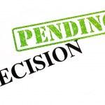 Decision PENDING — Stock Photo