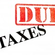 Taxes DUE — Foto Stock