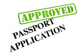 Passport Application APPROVED — Stock Photo