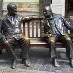 Franklin D. Roosevelt & Winston Churchill Statue in London — Stock Photo #24695523