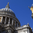 Stock Photo: St. Pauls Cathedral and Statue of Saint Paul in London