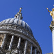 St. Pauls Cathedral and Statue of Saint Paul in London — Stock Photo #24698523