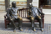 Franklin D. Roosevelt & Winston Churchill Statue in London — Foto Stock
