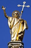 Saint Paul Statue at St. Pauls Cathedral in London — Stock Photo
