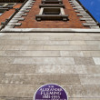 Stock Photo: Sir Alexander Fleming Plaque at St. Mary's Hospital in London