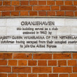 Oranjehaven Plaque in Hyde Park Place, London — Stock Photo