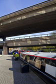 The Westway over the Regents Canal in Paddington, London — Foto de Stock