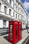 Red Telephone Boxes in London — Stock Photo