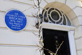 Charles Vyner Brooke Blue Plaque in London — Stock Photo
