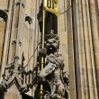 Architectural Detail on the Houses of Parliament in London — Stok fotoğraf