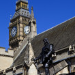 Oliver Cromwell Statue outside the Houses of Parliament — Stock Photo