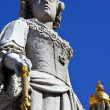 Queen Anne Statue at St. Paul's Cathedral in London — Stock Photo