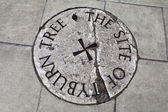 Tyburn Tree (Gallows) Plaque in London — Stock Photo