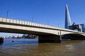 London Bridge, The Shard and Tower Bridge. — Stock Photo