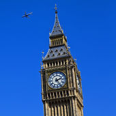 Aircraft Flying over Westminster — Stock Photo