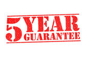 5 YEAR GUARANTEE — Stock Photo