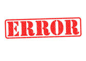 ERROR Rubber Stamp — Stock Photo