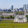 London Docklands Panoramic from Greenwich Park — Stock Photo