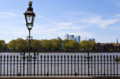 View of Docklands from Greenwich — Stock Photo