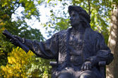 Christopher Columbus Statue in London — Stock Photo