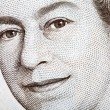 The Queen on an English Banknote — Stock Photo