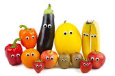 Fruit and Vegetable Family — Stock Photo