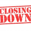 Stock Photo: CLOSING DOWN