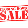 Stock Photo: CLOSING DOWN SALE