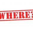 WHERE? — Foto de Stock