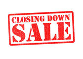 CLOSING DOWN SALE — Stock Photo