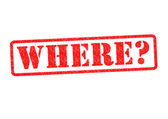 WHERE? — Stock Photo