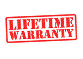 LIFETIME WARRANTY — Stock Photo