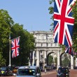 mall och admiralty arch i london — Stockfoto