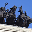 Wellington Arch Quadriga in London — Stock Photo