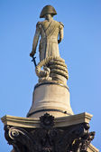 Admiral Nelson statue on Nelson's Column — Stock Photo