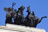 Wellington Arch Quadriga in London — 图库照片