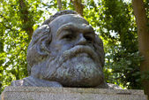 Karl Marx Bust in Highgate Cemetery — Stock Photo