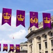 Royal Diamond Jubilee Banners in London — Stock Photo