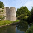 Bishop's Palace Moat in Wells — Stock Photo
