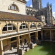 Stock Photo: RomBaths and Bath Abbey in Somerset
