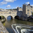 Pulteney Bridge and Weir in Bath — Stock Photo